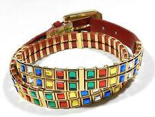 Nanni Belt Embellished Womens Size 29 Italy
