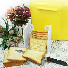 Bread Toast Sandwich Slicer Cutter Mold Maker Kitchen Guide Slicing Tools White