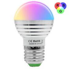 New 5W E27 RGB LED Light Bulb Color Changing Lamp Spotlight With Remote Control
