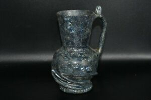 Ancient Roman Glass Jug with Incredible Pattern & Iridescent Patina from Israel