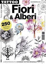 Flores y árboles Diseño De Tatuaje Flash Libro-Tatuaje el emblema de la inmortalidad