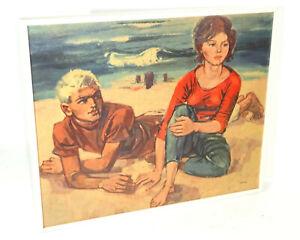 DDR Gravure Walter Womacka à la Plage Victoria Vintage Impression Déco GDR