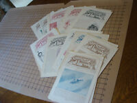 Vintage Original: lot of 50+ PICTURE LESSON PAPERS, 4pgs each - 1903-1904