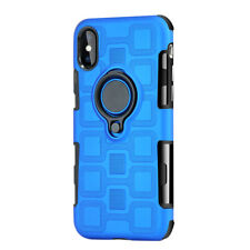 Armor Hard Ring Stand Soft Rubber Back Case Cover For Sony Xperia L1/XA1/XZ1
