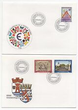 1986 LUXEMBOURG - 2 x First Day Covers EUROPEAN ROAD SAFETY YEAR & TOURISM