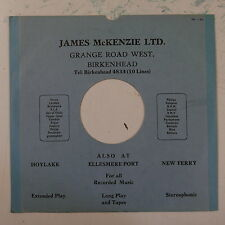 "78rpm 10"" card gramophone record sleeve / cover JAMES McKENZIE birkenhead"