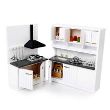 1:12 Mini Dollhouse Miniature Furniture Wooden Kitchen Cabinet Table Set   D1