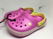 Kids Crocband Pink Clogs Casual Beach Holiday Summer Shoes Size J1 NWT New!