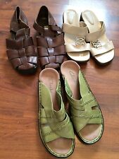 Womens Size 7 Lot Naturalizer Clarks St John Bay Leather Sandals Heels