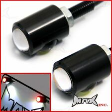 Black Anodized Licence Number Plate LED Light Bolt with Integrated Stop Lights