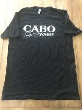 Cabo Wabo Tequila Men's Black S/S Front Logo 100% Cotton Tee Shirt Size XLarge