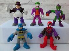 Imaginext Marvel Super Hero Squad Villains Penguin Batman Joker Figure Lot