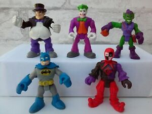 Imaginext Marvel Super Hero Squad Villains Penguin Batman Joker Figure Lot