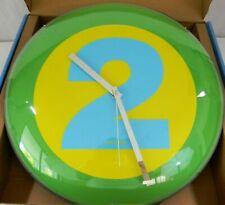 Karlsson Wall Clock Modern Number 2 Designer Domed 14 Inch Analog