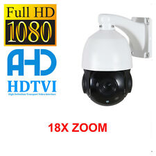 IR Dome CCTV Camera PTZ 1080p Full HD TVI AHD CVBS 18X Zoom Outdoor Night Vision