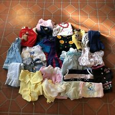 Large Lot Of 24 vtg mixed baby Kids clothes Romper Dresses Disney Healthtex Usa
