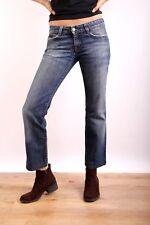 CK Calvin Klein Low Rise Faded Blue Five Pocket Jeans 100% Cotton W27 UK10 NICE