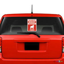 In Case of Emergency Rescue My Great Pyrenees Windshield Sticker #2 dog pyr