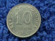 Argentine 10 Centavos 1952 Non Magnétique