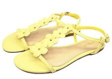 CALEB-10 New Flats Sandals Buckle Gladiator Party Beach Women Shoes Yellow 8