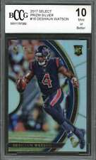 Deshaun Watson Rookie Card 2017 Select Prizm Silver #16 Texans BGS BCCG 10