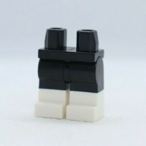 LEGS - Dual Molded  Black W/ White Boots Cat Super Hero LEGO® Minifigure Part