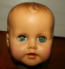 Vintage Eegee Soft Vinyl Green Eyes Replacement Baby Doll Head Creepy Prop