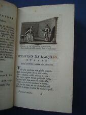 PARNASO ITALIANO-POEMETTI DEL SECOLO XV E XVI-ZATTA 1785-INCISIONI