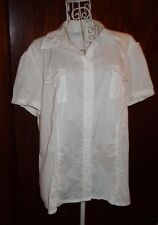 PORTMANS Size 14-16 Womens Business/career Shirt blouse top white vgc