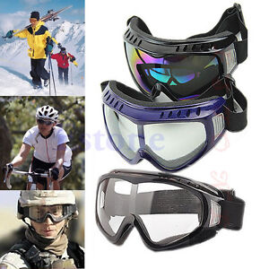Motorcycle Airsoft Goggles Tactical Paintball Clear Glasses Wind Dust Protection