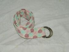 J Crew Necktie Belt With D Ring Closure Pink Mod Pastel Size Small 18271