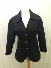 Womens Firetrap Rain Coat - Uk14 - Black - Great Condition