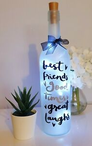 LED Light Up Scentiment Bottle for a Friend Great Gift for a Birthday/Christmas