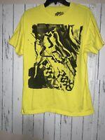 Fox Racing Mens Medium Yellow Short Sleeve T-Shirt