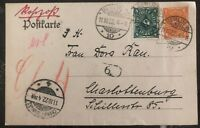 1922 Berlin Germany Postal Stationary Postcard Uprated Cover Domestic Used
