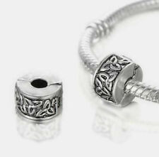 CELTIC LOVE KNOT CLIP STOPPER CHARM BEAD FOR BRACELET OR NECKLACE