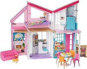 Barbie Malibu 2 Story 6 Room house Playset with over 25 Accessories (Open Box)