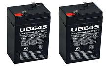 2 UB645 PS-640 Rechargeable Battery 6V 4.5ah 6 Volt F1 Game Feeder Deer Lighting