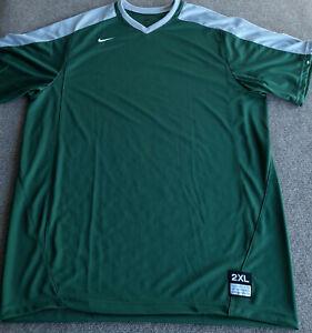 Nike Team Vapor DriFit Baseball Shirt Size 2XL Game Top reen Gray 708189
