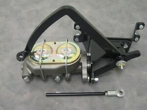 1928 to 1931 Model A Ford Frame Mount Pedal Assembly w/ Manual Master Cylinder