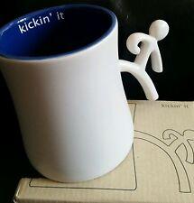 Ensemble Postures 12 oz CERAMIC COFFEE TEA MUG (Kickin' It) NEW IN BOX