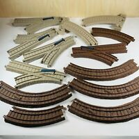 Thomas the Train TRACKMASTER Tan and Brown Track Lot Of 13 Pieces