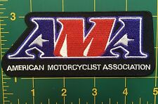 "AMA motorcycle patch  4 7/8"" wide"