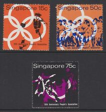 SINGAPORE 1970 People's Association tenth anniv sg133-135 MNH