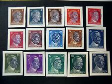 "GERMANY Germania LOKAL Post REICH  1945""LOBAU (Sachsen) "" 15 valori on piece"