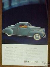 1938 Lincoln-Zephyr V-12 Car Promo Trade Art Print Ad