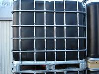 1000 L Wassertank , IBC Container , Regentonne , schwarze Blase , Top wie neu.
