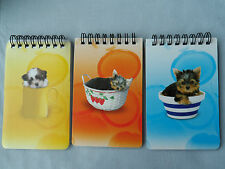 3 Lovely MINI NOTE PAD / Book Party Bag! Jotters Books Cute Dog Puppy