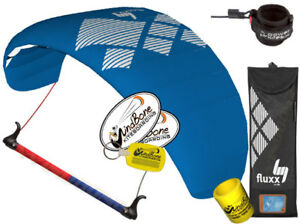 HQ4 Fluxx 2.2 Symphony Trainer Kite Kiteboarding Control Bar + Kite Killer Leash
