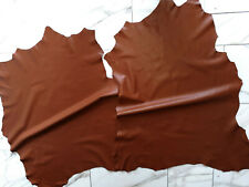 LEDER TIP 28882-Q, Lederreste, 2 Lederhäute Konvolut, tabakfarben nappa *